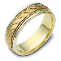Item # 110021E - 18 kt Hand Made Wedding Ring