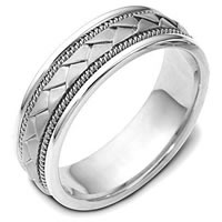 Item # 110021PP - Platinum hand made Wedding Ring