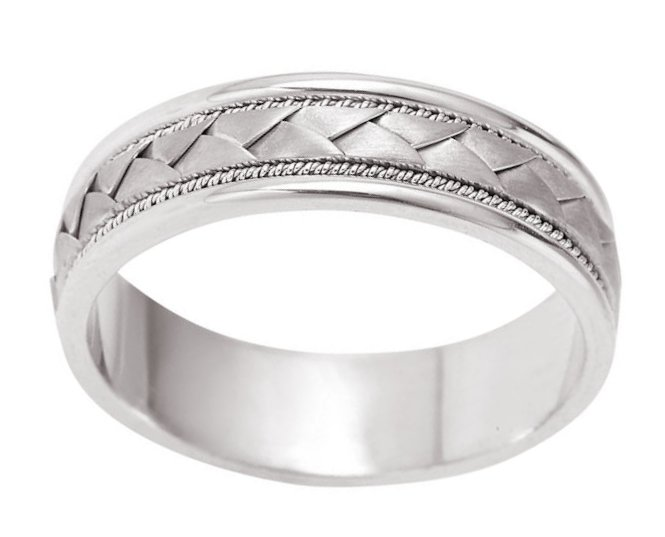 Item # 110031PD View 2 - Palladium Hand Made Wedding Band