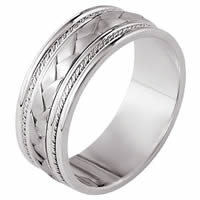18K White Gold Braided Band