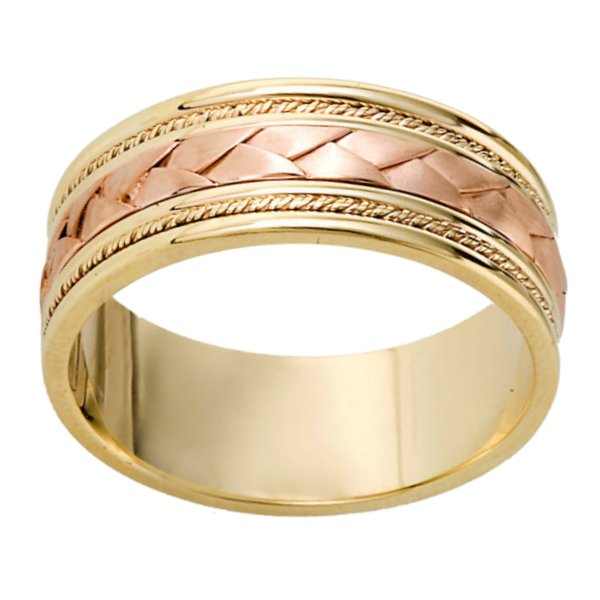 Item # 110041E View 2 - Braided Wedding Band