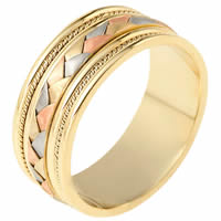 Item # 110051E - Wedding Ring 18 kt Hand Made