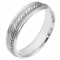 Platinum His and Hers Comfort Fit Wedding Band