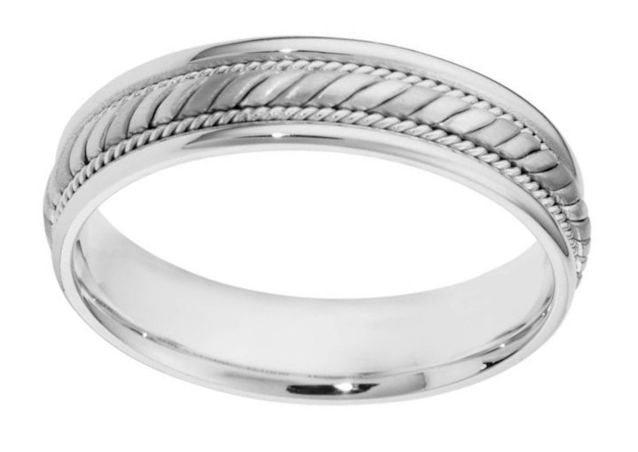 Item # 110061PP View 2 - Platinum His and Hers Comfort Fit Wedding Band