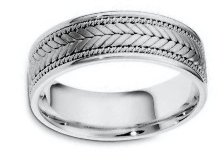 Palladium Hand Made Wedding Ring