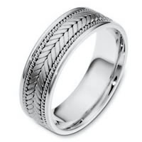 Item # 110071PD - Palladium Hand Made Wedding Ring
