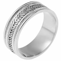 Item # 110081PP - Platinum hand made Wedding Band