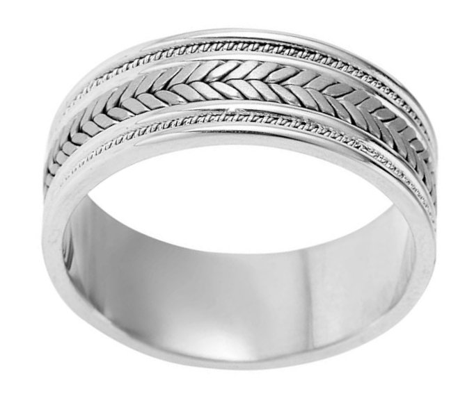 Item # 110081PD View 2 - Palladium Hand Made Wedding Band