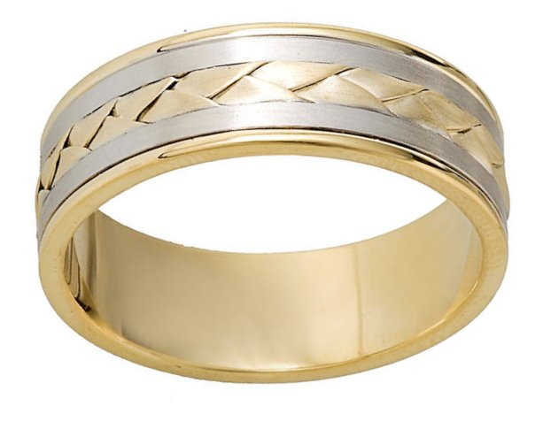 Item # 110091E View 2 - Hand Made Wedding Band 18 kt