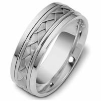 Item # 110101PP - Platinum hand made Wedding Band