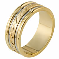 Item # 110111E - 18 kt Hand Made Wedding Band