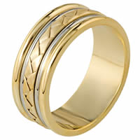 Item # 110111 - 14 kt Hand Made Wedding Band