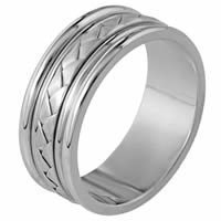 Item # 110111W - 14K Hand Made Comfort Fit Wedding Band