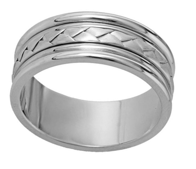 14K Hand Made Comfort Fit Wedding Band