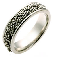 Item # 110131PP - Platinum hand made Wedding Band
