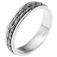 Item # 110141WE - 18 kt Hand Made Wedding Band