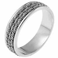 Platinum hand made Wedding Band