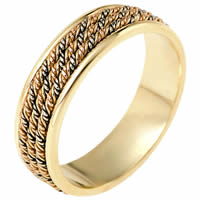 Item # 110151E - Wedding Ring 18 kt Hand Made