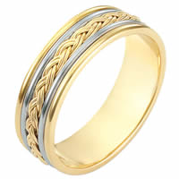 Item # 110161E - 18 kt Hand Made Wedding Band