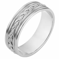 Item # 110161WE - 18 kt Hand Made Wedding Band