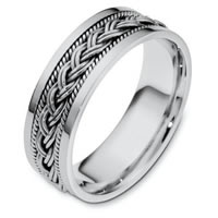 Item # 110171WE - 18 kt Hand Made 7.0mm  Wedding Band