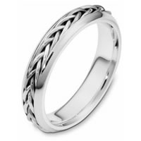 Item # 110191PP - Platinum Wedding Band  Hand Made