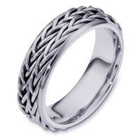 Item # 110201PP - Platinum hand made Wedding Band