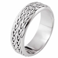 Item # 110211PP - Platinum hand made Wedding Band