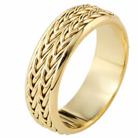 Item # 110211 - 14 kt Hand Made Wedding Band