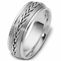 Item # 110221W - 14 kt Hand Made Wedding Ring