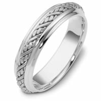 Item # 110241W - 14 kt Hand Made Wedding Ring