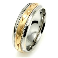 Item # 110261E - 18K Two-Tone Gold Wedding Ring
