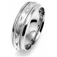 Item # 110261PP - Platinum Braided Wedding Band