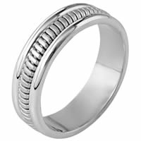 Item # 110281PP - Platinum hand made Wedding Band
