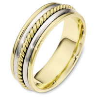 Item # 110311E - Two-Tone Gold Comfort Fit  Wedding Band