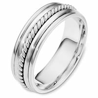 Item # 110311WE - White Gold Comfort Fit Wedding Band