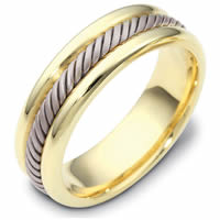 Item # 110321E - Gold Comfort Fit  Handmade Wedding Band