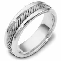 Item # 110321PD - Palladium Comfort Fit Handmade Wedding Band