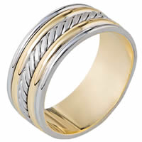 Item # 110331E - Two-Tone Gold Comfort Fit  Wedding Band