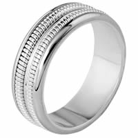 Item # 110351PP - Platinum Comfort Fit 7mm Handmade Wedding Band