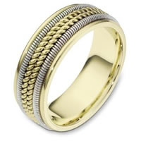 Item # 110361E - Two-Tone Gold Comfort Fit  Wedding Band