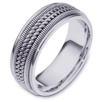 Item # 110361W - White Gold Comfort Fit  Wedding Band