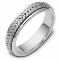 Item # 110371W - White Gold Comfort Fit  Wedding Band