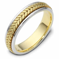Item # 110371E - Two-Tone Gold Comfort Fit Wedding Band
