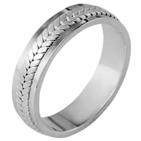 Item # 110381PP - Platinum 5.5 mm Wide Wedding Band