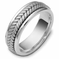 Item # 110391WE - White Gold Comfort Fit Wedding Band