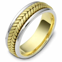 Item # 110391E - Wedding Band Two-Tone Gold Comfort Fit