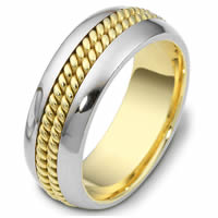 Wedding Ring Two-Tone Gold Comfort Fit