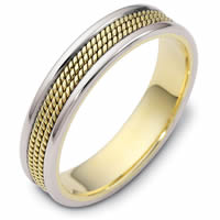 Item # 110431E - Two-Tone Gold Comfort Fit 5mm Wedding Ring
