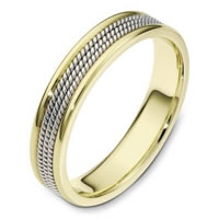 14K Two-Tone Gold Comfort Fit Wedding Ring